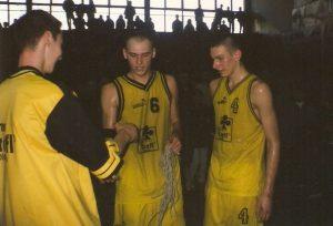 Przemysław Frasunkiewicz i Filip Dylewicz w latach 90.