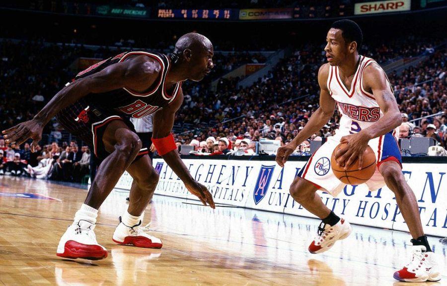 Michael Jordan i Allen Iverson (Fot. Wikimedia Commons)