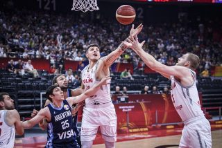 Dominik Olejniczak i Michał Sokołowski / fot. FIBA