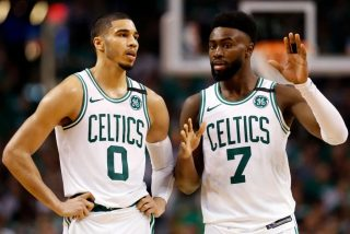Jayson Tatum i Jaylen Brown / fot. wikimedia commons