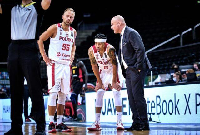 Łukasz Koszarek, AJ Slaughter i Mike Taylor / fot. FIBA Europe