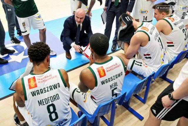 Trener Wojciech Kamiński i jego zespół / fot. A. Romański, plk.pl
