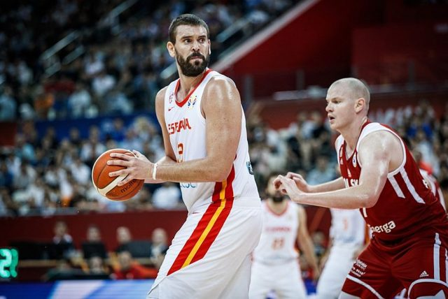 Marc Gasol i Damian Kulig / fot. FIBA