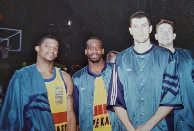 Gwiazdy zespołu z Pruszkowa – od lewej: LaBradford Smith, Tyrice Walker, Krzysztof Dryja, Piotr Szybilski / fot. archiwum prywatne