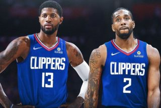 Paul George i Kawhi Leonard / fot. wikimedia commons