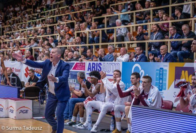 Trener Marek Łukomski / fot. Tadeusz Surma, PGE Spójnia