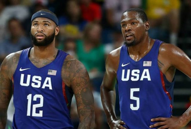 DeMarcus Cousins i Kevin Durant / fot. wikimedia commons