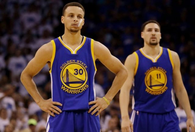Stephen Curry i Klay Thompson / fot. wikimedia commons