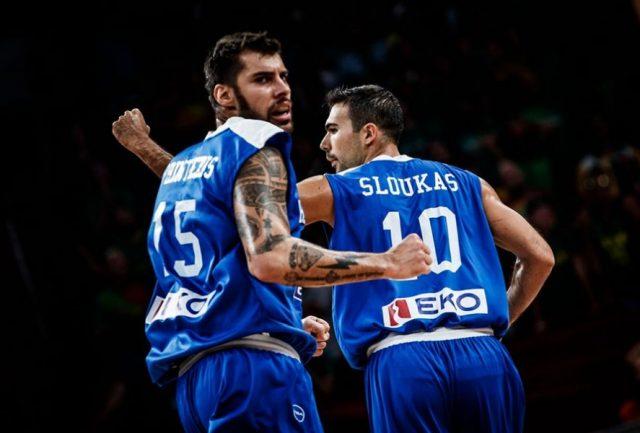 Georgios Printzesis i Kostas Sloukas (fot. FIBA.com)