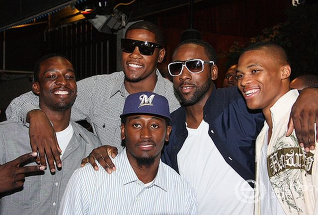 Jeff Green, Kevin Durant, James Harden, Russell Westbrook i Kyle Weaver