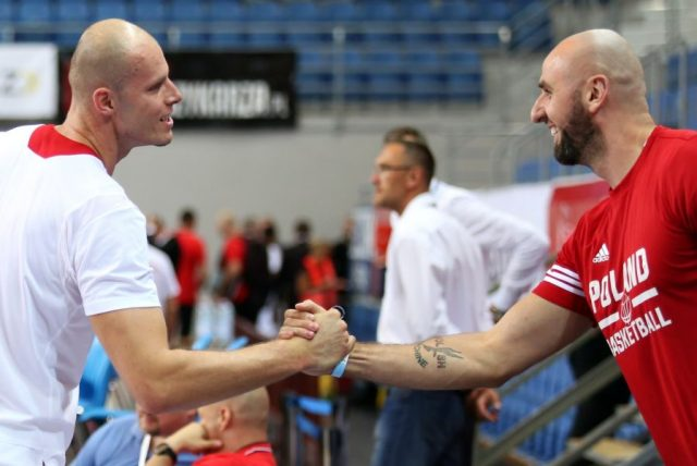 Maciej Lampe i Marcin Gortat (Fot. Andrzej Romański/PZKosz)