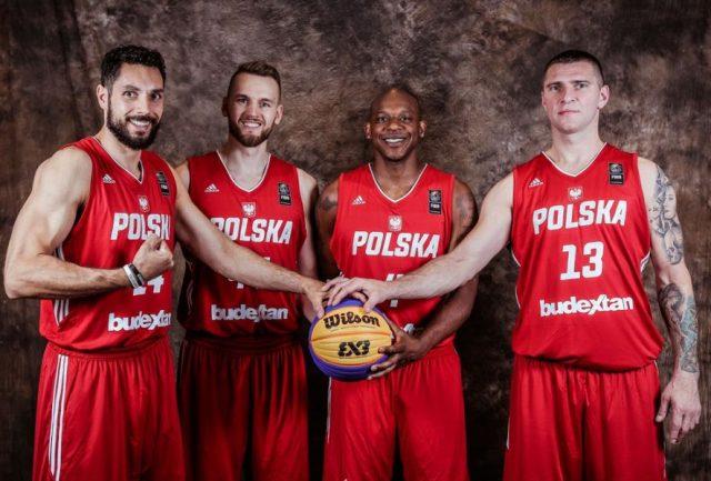 Reprezentacja Polski na MŚ (Pawłowski, Rduch, Hicks, Sroka), fot. FIBA