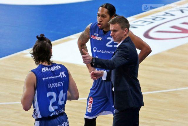 Trevon Allen i trener Robert Skibniewski / fot. A. Romański, plk.pl