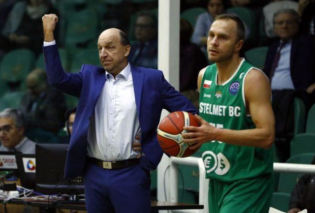Andrej Urlep i Łukasz Koszarek / fot. Basketball Champions League